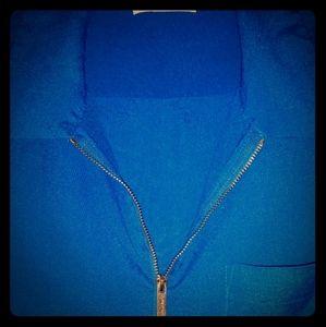 Calvin klein short-long sleeve royal blue shirt